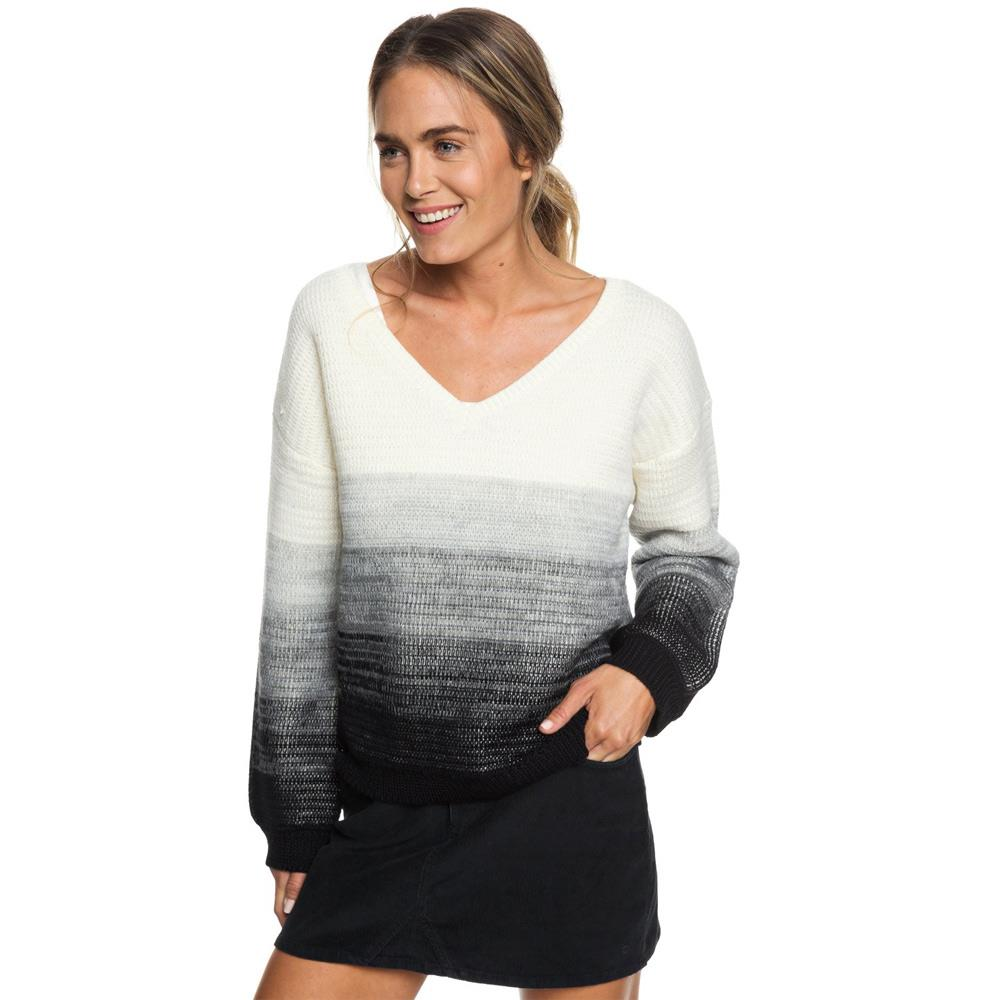 erjsw03307-kvj0 roxy a day at dream swtr womens sweaters black/white