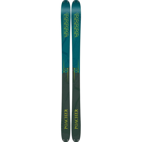 s180301901170 k2 poacher mens skis blue/green