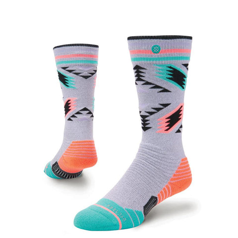 g758c18cha.gry stance girls sn chick a dee snowboard socks grey/teal
