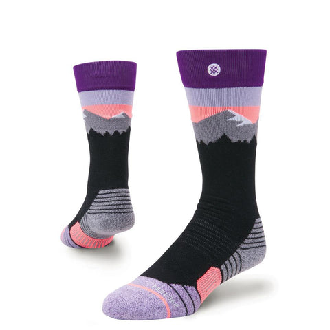 g758c18wch.blk stance girls sn white caps snowboard socks black/purple