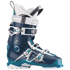 39153700 salmon alp qst pro 90 w side view womens boots black/blue