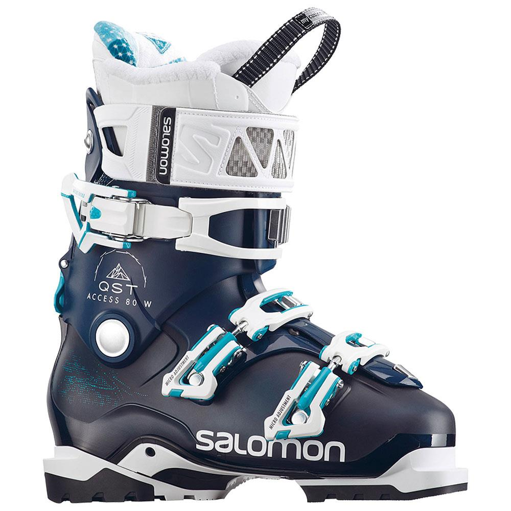 l39936500 salomon alp qst access 80 w side view womens boots navy/white