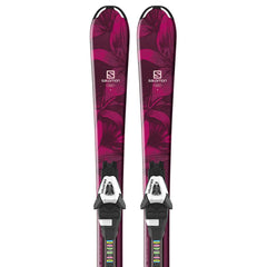 l40544600100 salomon set e qst lux jr s+c5 j75 close-up view youth girls package black/red