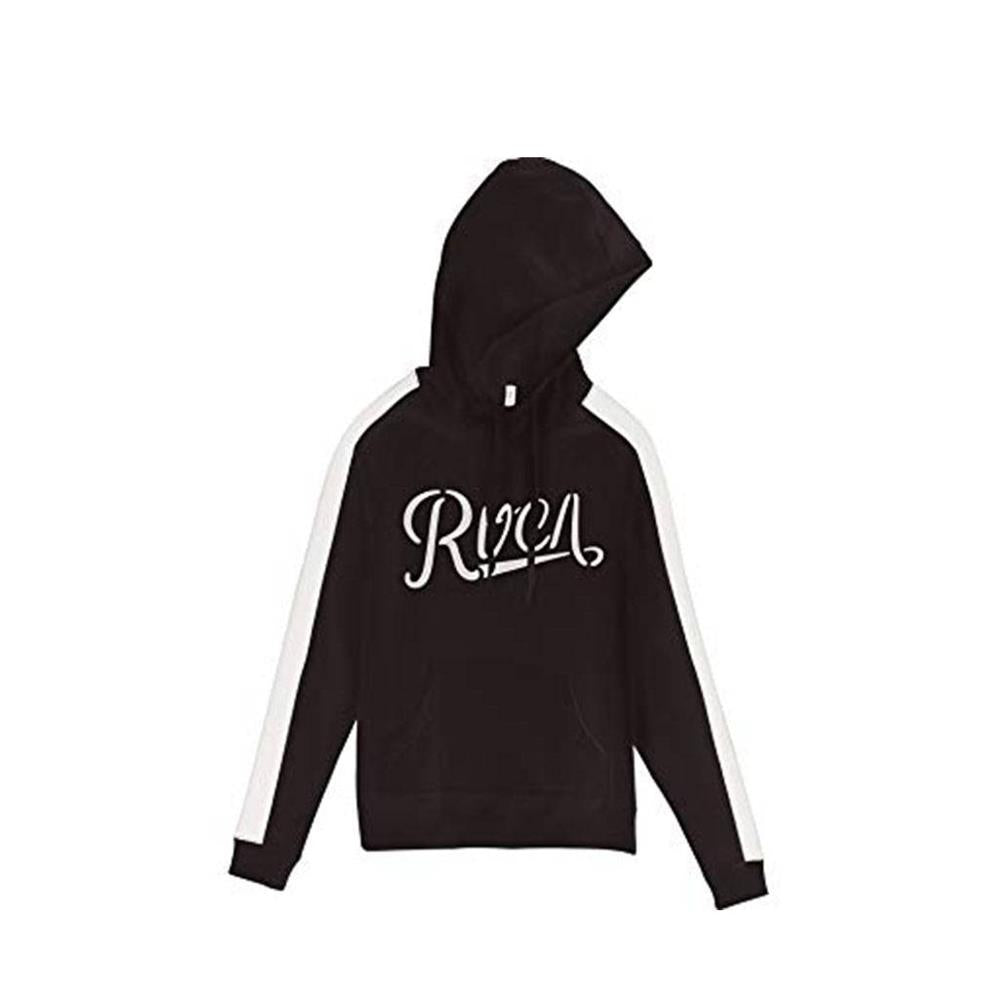 w612srma rvca maryweather front view womens pullover hoodies black