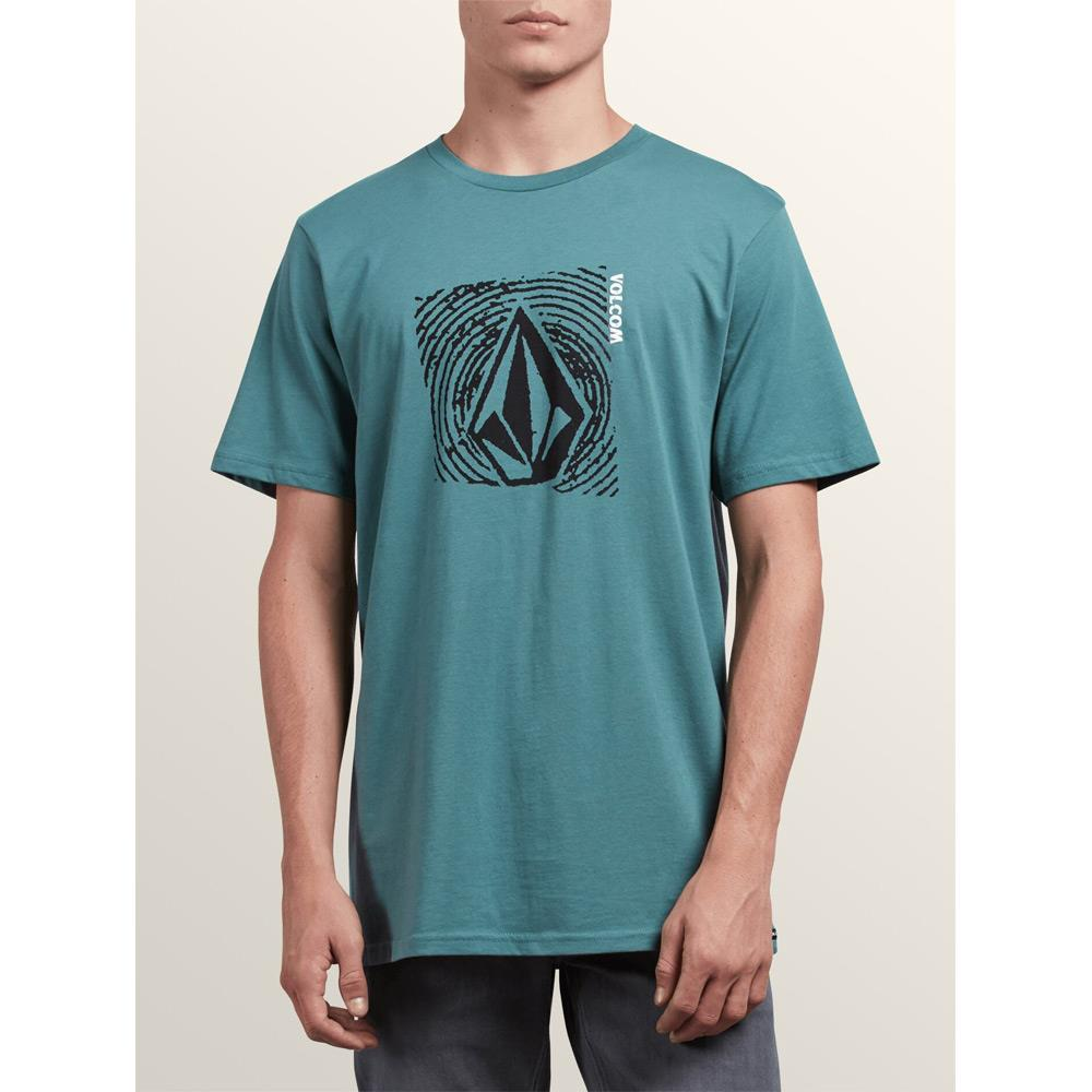 a50031800-pne volcom sonar waves front view mens t-shirts short sleeve green