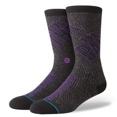 m556b18bla.gry stance marvel black panther overall view mens socks black/purple