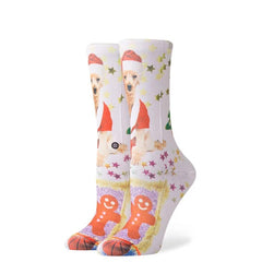 w525d18mrs.wht stance mrs paws overall view womens socks white multi