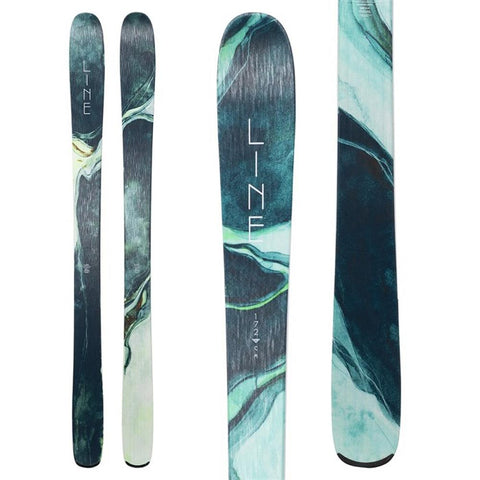 a1830181165 line skis pandora 94 top and close-up view womens skis turquoise