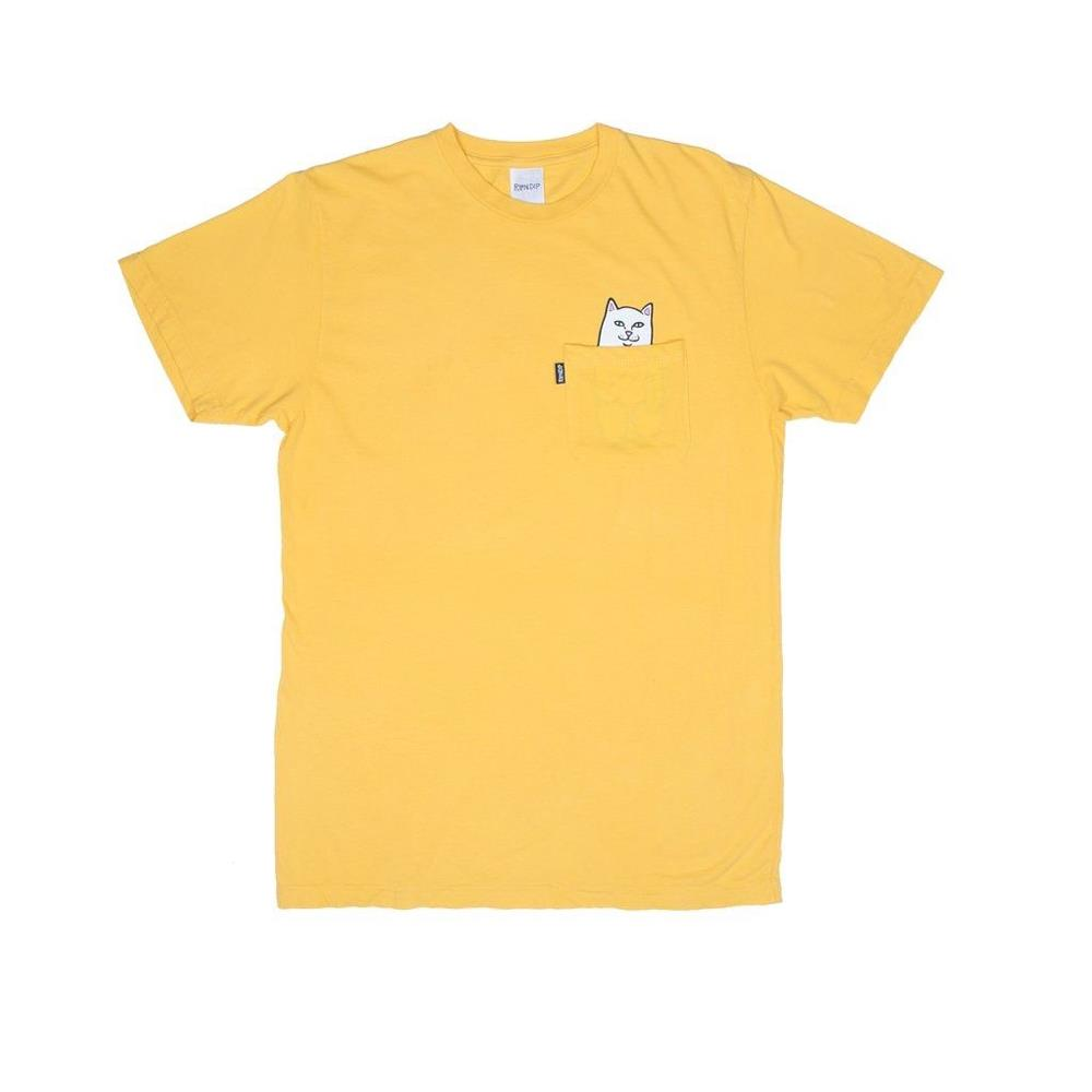 ripndip lorn nermal front view mens t-shirts short sleeve yellow
