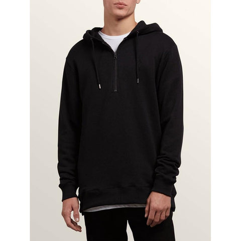 volcom index p/o front view mens pullover hoodies black
