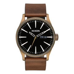 Nixon Sentry Leather Band Watch