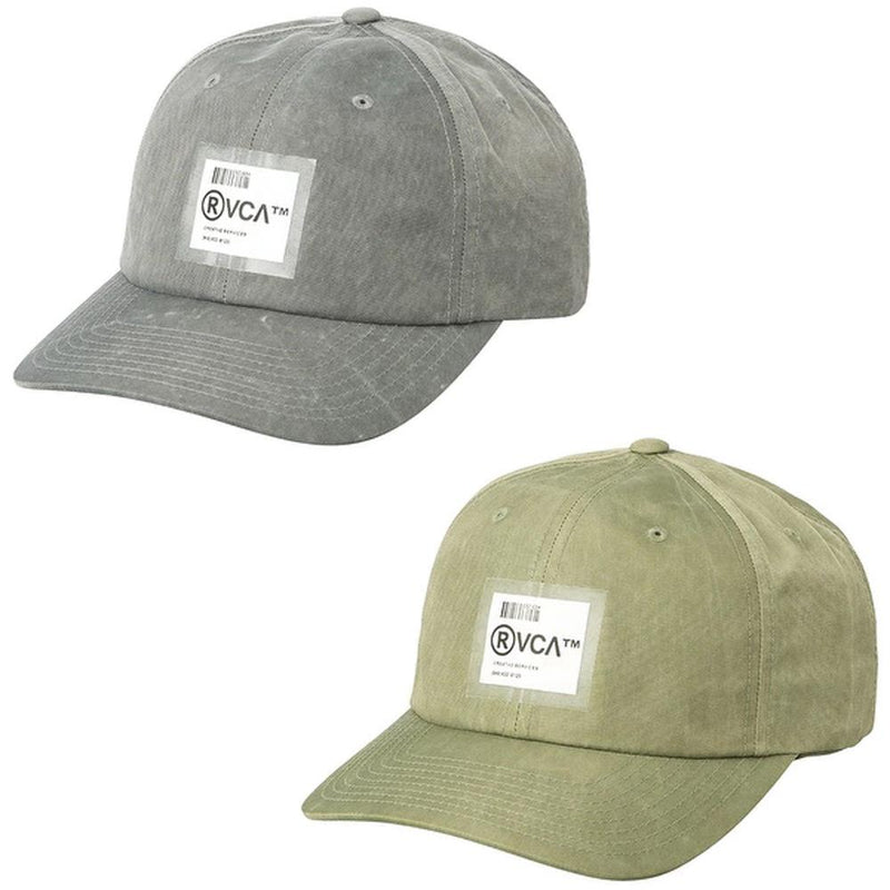 rvca barcode hat front view mens hats green