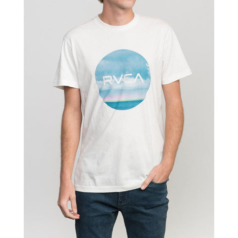 rvca harizon motors front view mens t-shirts slim fit white