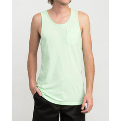 rvca ptc pigment tank front view mens tank tops and jerseys green