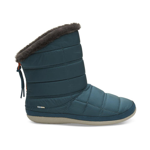 10012469 toms inez quilted womens winter boots blue