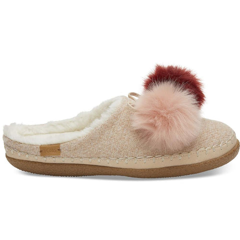 10012486 toms pom pom iv slippers womens slip on shoes rose