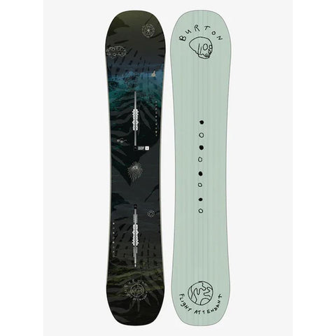 burton flight attendant front and back all mountain snowboards black/blue