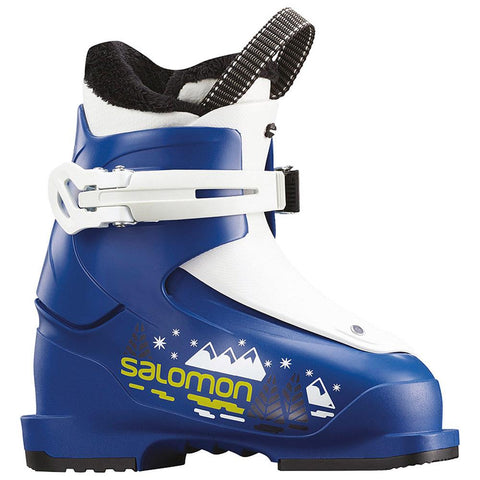 salomon alp boots t1 side youth boys boots blue