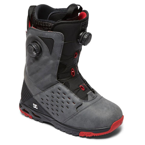 dc torstein side view Mens Boa Boots grey/red