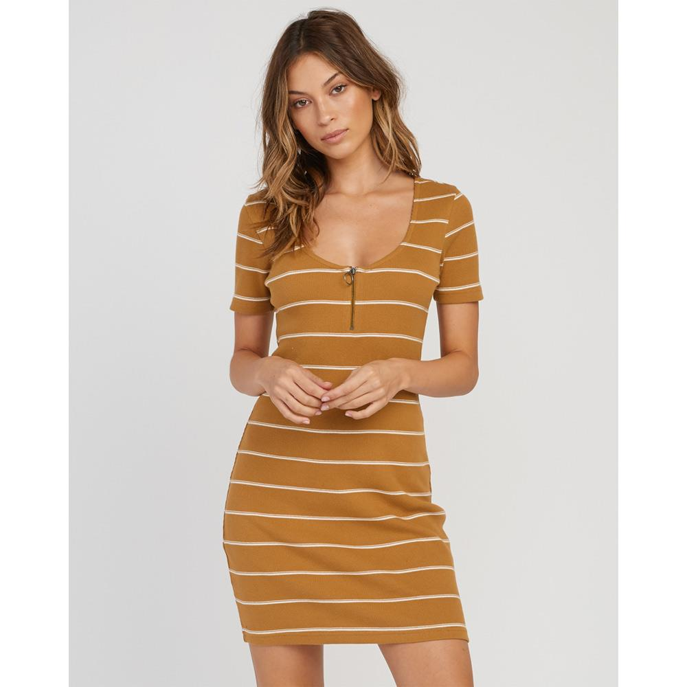 rvca donner dress front view Casual Dresses mustard