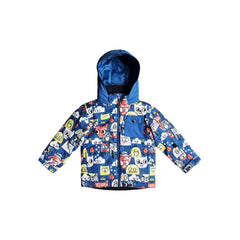 quicksilver little mission jacket front view Boys Snowboard Jacket blue