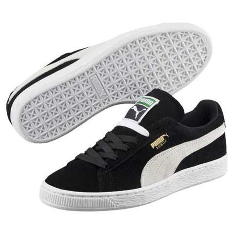 puma suede classics womens side and bottom view Womens Skate Shoes black