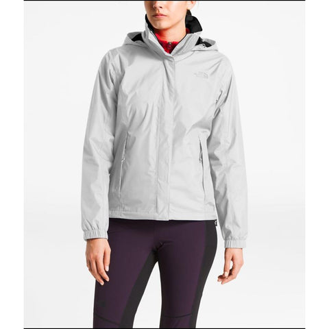 the north face resolve 2 jacket front view Womens Shell Jackets light grey