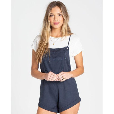 billabong wild pursuit front view Rompers navy