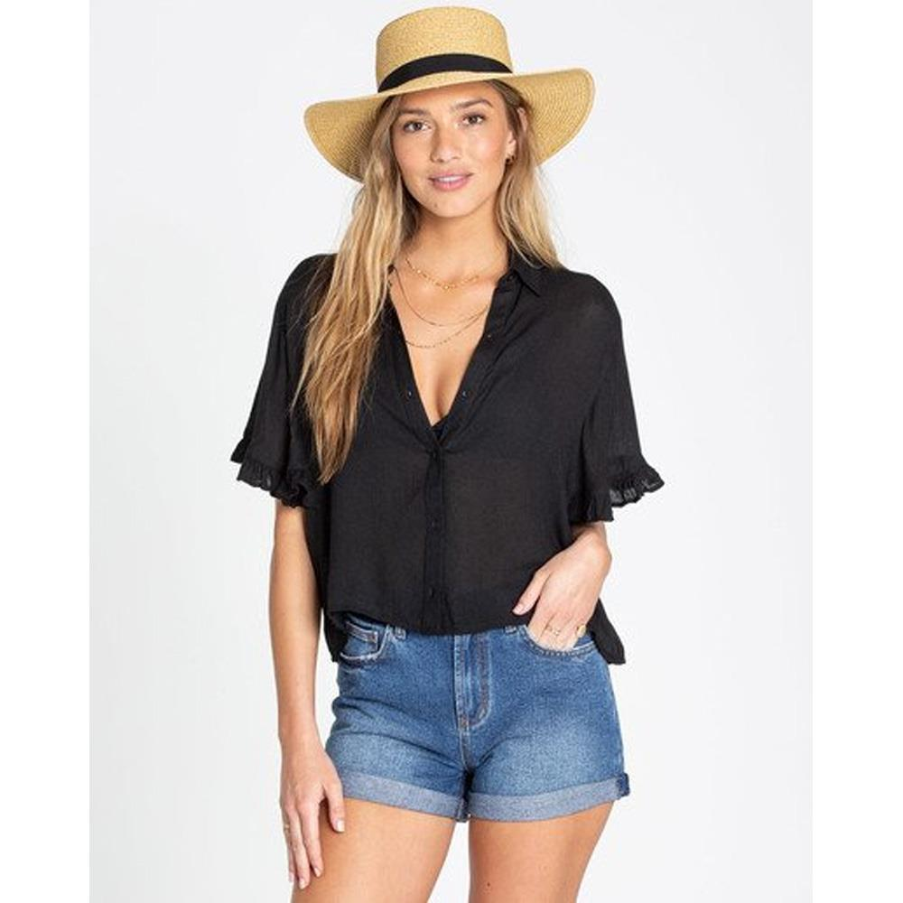 billabong find me front view Womens Fashion Tops black