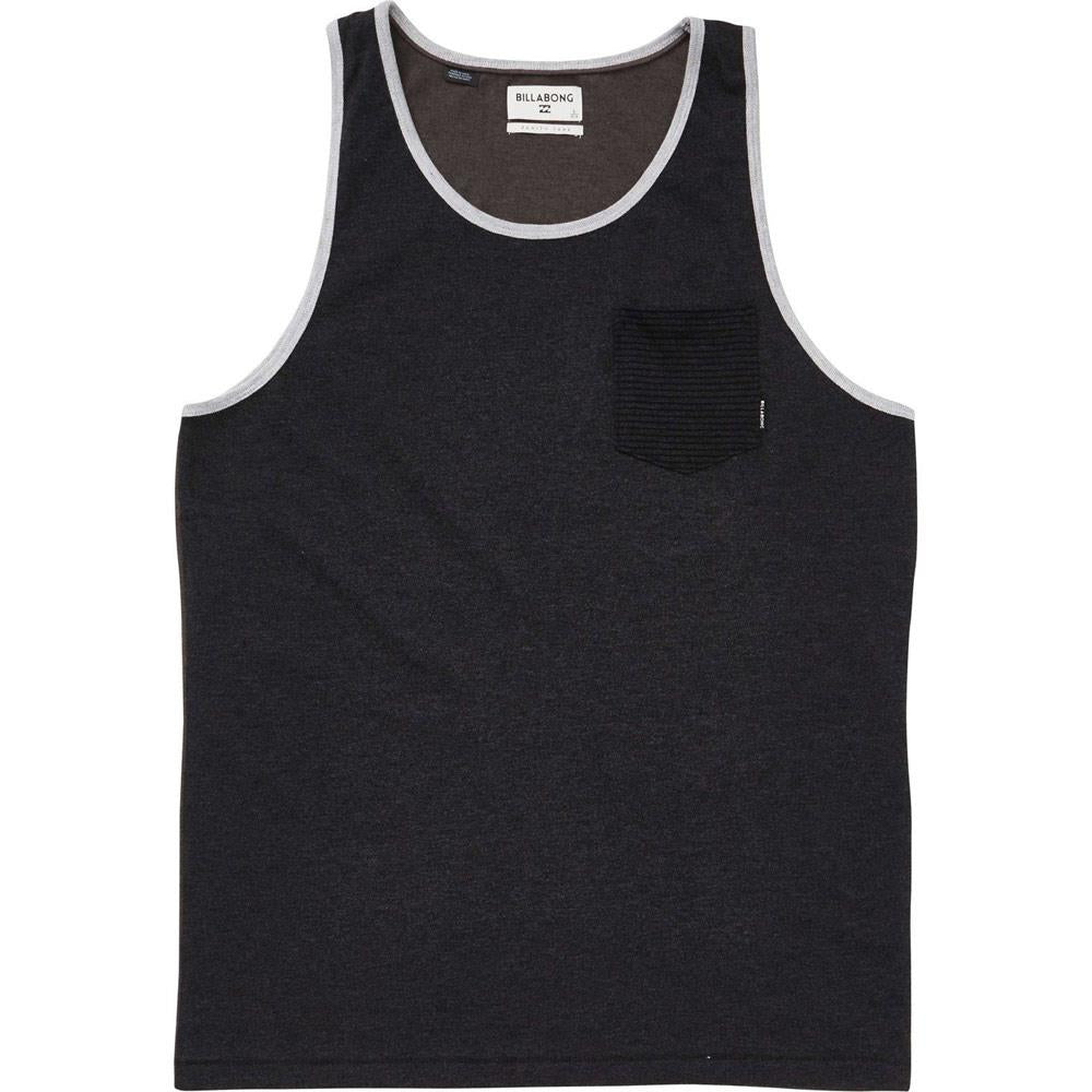 billabong zenith tank front view Mens Tank Tops And Jerseys black
