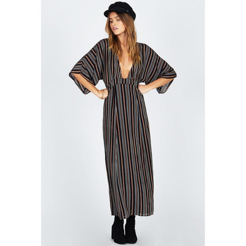AMUSE SOCIETY FOREVER AND A DAY DRESS FRONT VIEW MAXI DRESSES BLACK