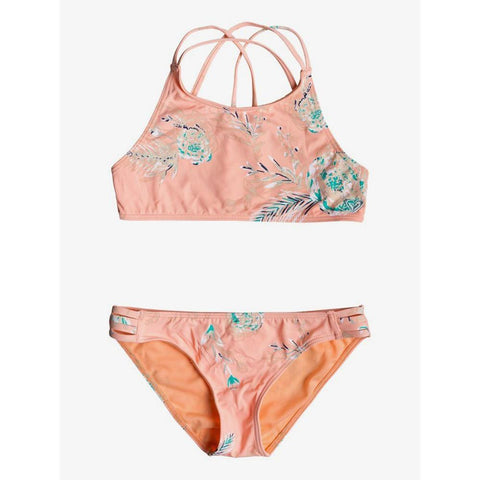 Roxy Girls Darling Crop Top Bikini Set