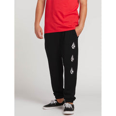 VOLCOM COMDEADLY STONES PANT FRONT VIEW MENS SWEAT PANTS BLACK