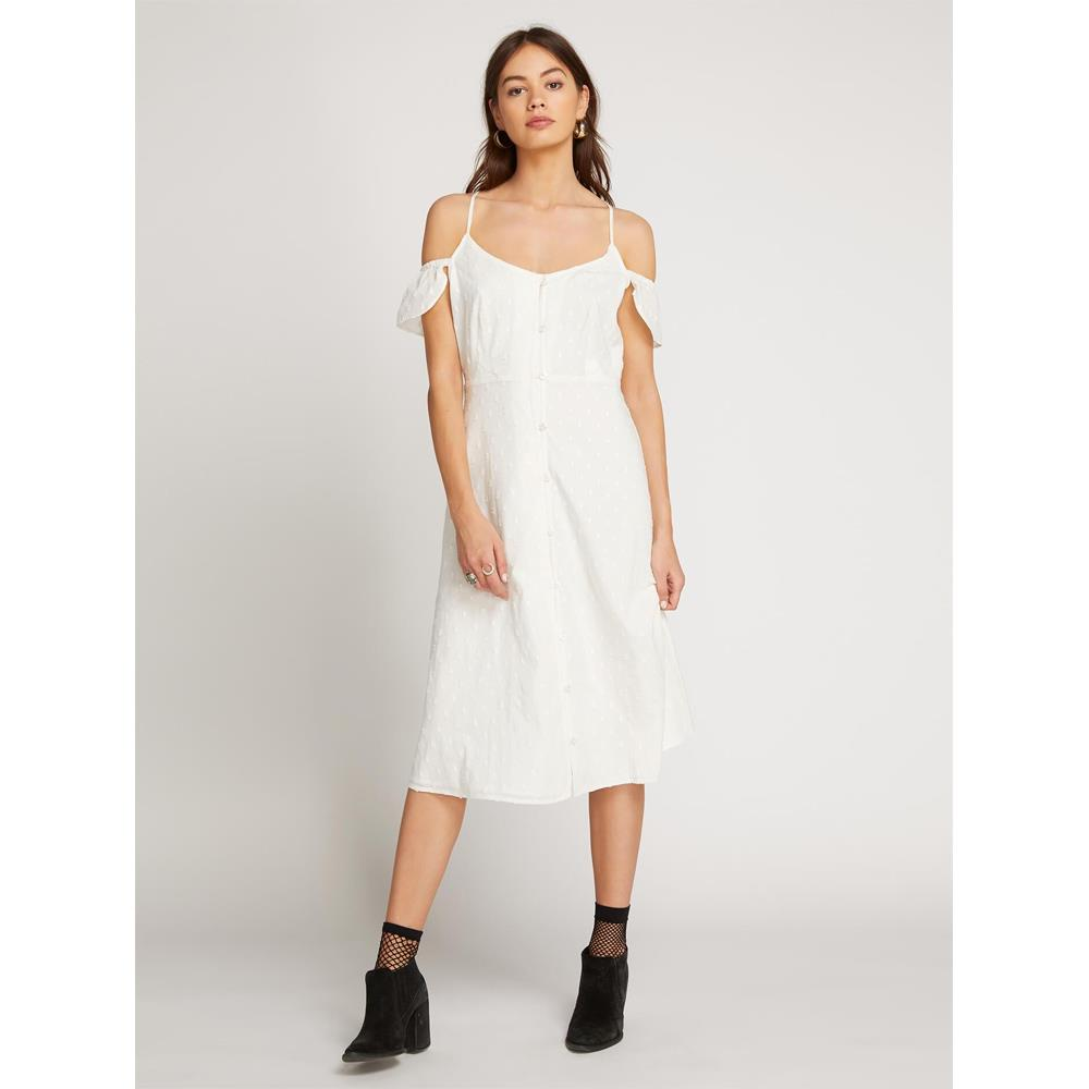 volcom winding roads front view casual dresses white