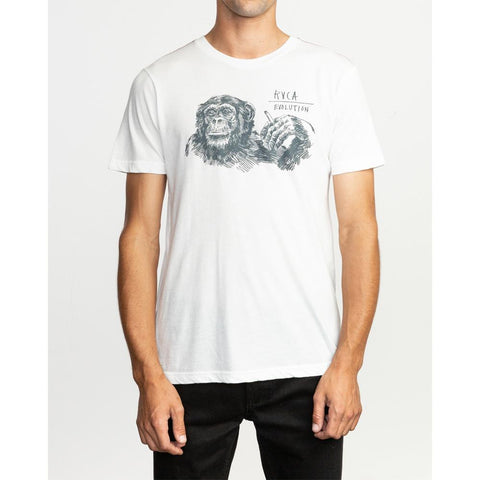 rvca smoker front view Men T-Shirts Slim Fit ivory