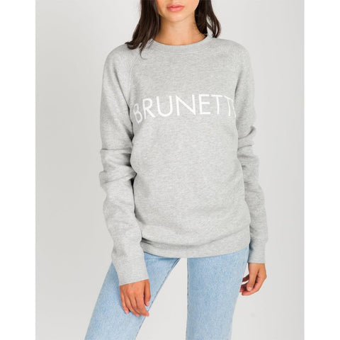 brunette Brunette Crew front view Womens Sweaters grey