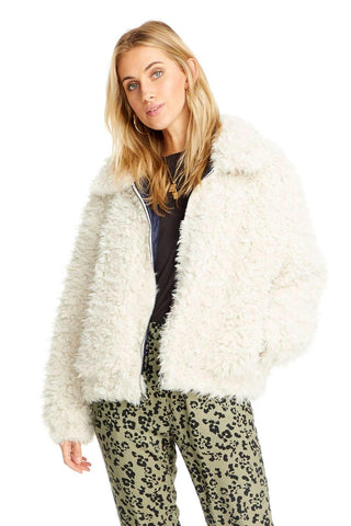 Saltwater Luxe Front Zip Fur Jacket