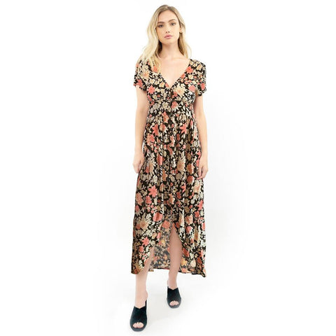 Saltwater Luxe, Dawson Maxi Dress, Womens Dresses, Black S1018-W3 floral