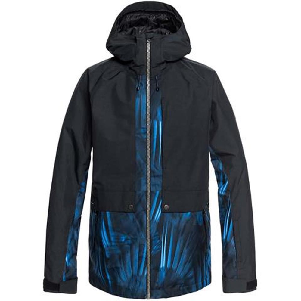 EQYTJ03179-BQC4, Black, Blue, Quiksilver, Travis Ambition Jacket, Mens Snowboard Jackets, Mens Outerwear, Winter 2020
