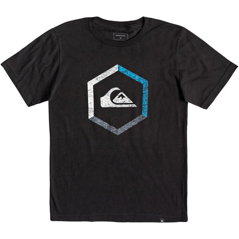 Quiksilver, Black, Boys Short Sleeve Tee, Multi Hex Tee, AQBZT03458-KVJ0