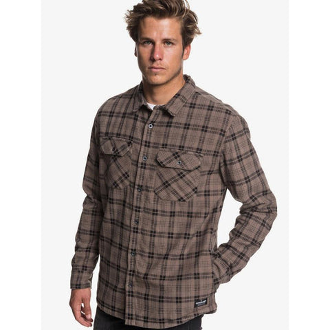 Quiksilver Black Ikura Fleece Long Sleeve Shirt