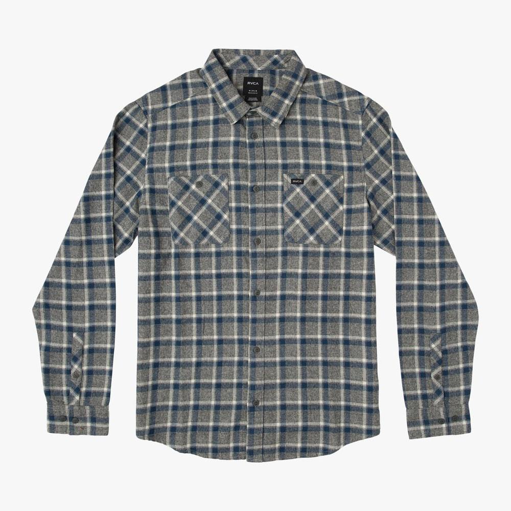 RVCA Boys Heron Plaid Flannel Shirt