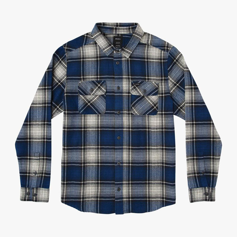 RVCA Boys High Plains Plaid Flannel Shirt