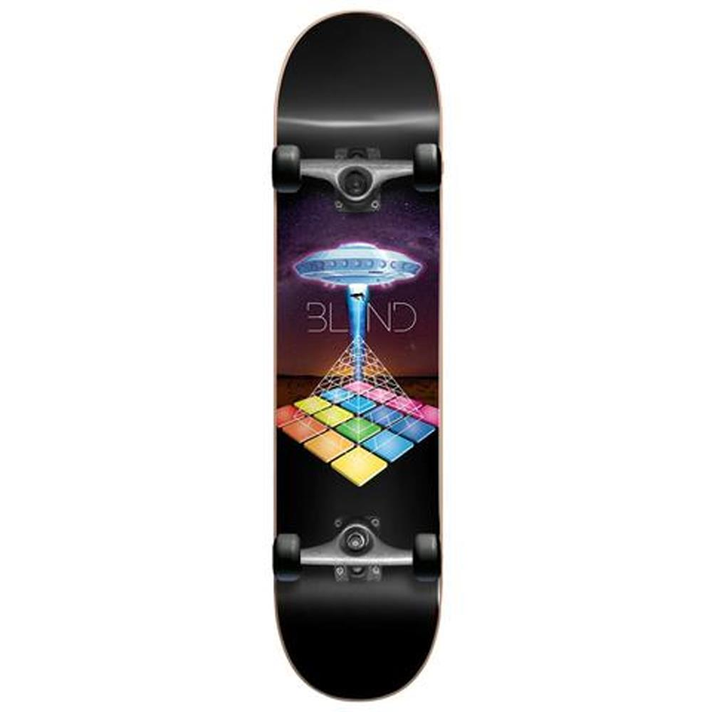 Blind, Complete Skateboards, UFO Odyssey Youth First Push Complete Skateboard, Black, 7.25""