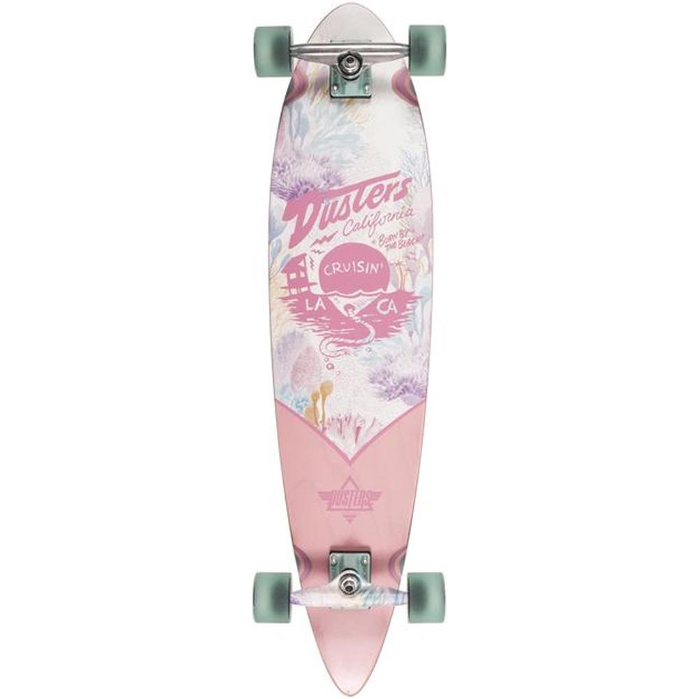 "Dusters, Longboard Complete, Cruisin Kelp Complete, Pink/Green, 37"", 10531429, bottom view"