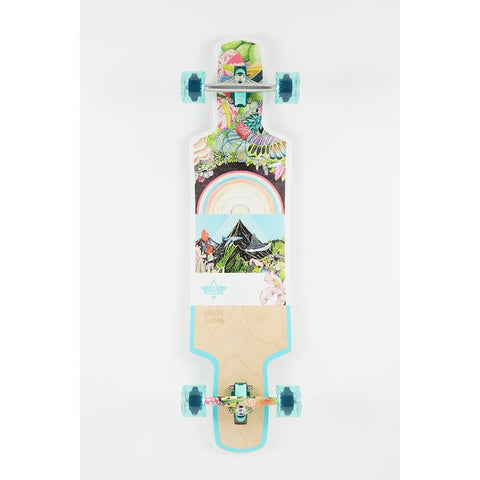 "Dusters, Biome Longboard complete, 38.5"", Teal, 10531438, bottom view"