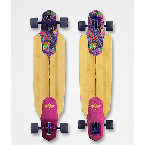 "Dusters, Channel Tripycal Longboard Complete, Drop through trucks, Purple, 38"", 10531451,"