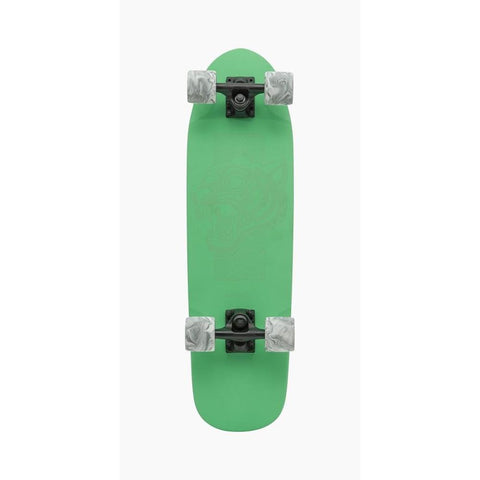 "119CP-UBDYTGGN, Landyachtz, Green Tiger Complete Longboard, Mini Cruzer, Green, 28.5"", Bottom View"