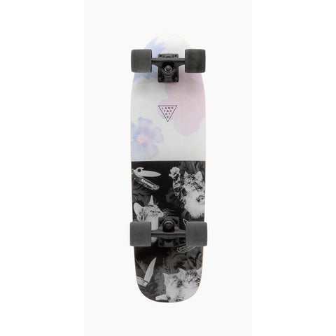 119CP-UBDYCTF, Landyachtz Dinghy Cat Fight Complete, Mini Cruzers, White, Black, Bottom View