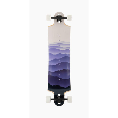 119CP-DHSB40FD, Landyachtz, Switchblade 40 faded complete, Longboard complete, Drop Deck, Drop Through Trucks, Purple, 40, Bottom View